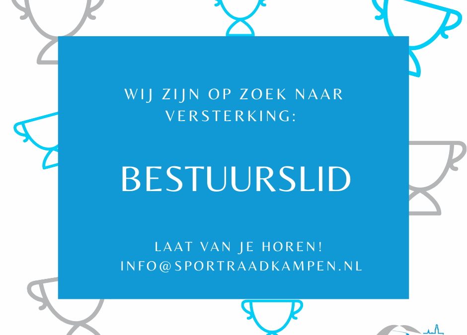 Sportraad Kampen zoekt Bestuurslid